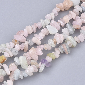 Natural Morganite Beads Strands, Chip, 5~15x5~10x2~7mm, Hole: 1mm, about  245~270pcs/Strand, 33.07~33.85 inches(84~86cm)(X-G-S363-021)
