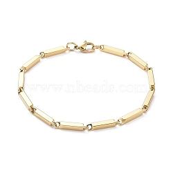 """Unisexe 304 bracelets de chaîne à maillons en acier inoxydable, avec fermoir pince de homard, or, 8-1/2"""" (21.5cm); 3mm(BJEW-L637-42C-G)"""