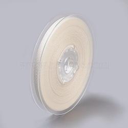 Rayon and Cotton Ribbon, Twill Tape Ribbon, Herringbone Ribbon, Beige, 3/8inch(9mm); about 50yards/roll(45.72m/roll)(SRIB-F007-028-9mm)
