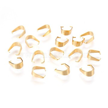 304 Stainless Steel Snap on Bails, for Pendant Making, Golden, 7x6.5x3mm, Pin: 0.5mm(X-STAS-P220-18G)