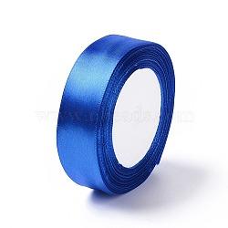 Ruban de satin artisanat de bricolage pour accessoires de cheveux, bleu royal, environ 1