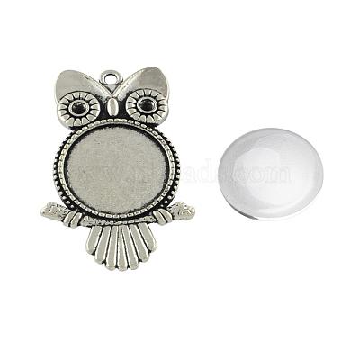 Owl Alloy+Glass Pendant Making