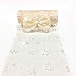 Tissu de flocon de neige, Tissu à carreaux en tulle pour la fabrication de jupe, blanc antique, 6'' (15 cm); environ 10 mètres / rouleau (9.144 m / rouleau)(OCOR-P010-G02)