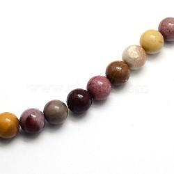 """Pierres gemmes de Mookaite rondes et naturelles , 12mm, trou: 1mm; environ 33 pcs/chapelet, 15.5""""(G-O047-12-12mm)"""