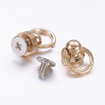 Accessories, Brass Screw nut, Iron Screws, Platinum & Golden, 17x8mm, Hole: 7mm(X-FIND-P024-03KCG)
