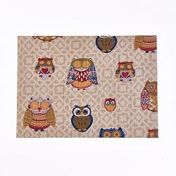 A4 autocollant de tissu auto-adhésif, enfants bricolage artisanat, motif de hibou, colorées, 29x21x0.05 cm(AJEW-WH0096-78H)