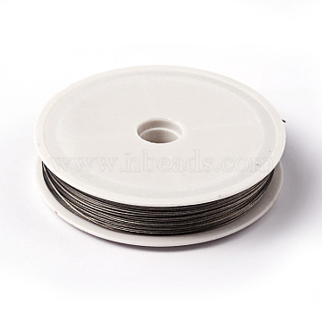 1 Roll Beading Wirer, Tiger Tail Wire, Nylon-coated Steel, Light Grey, 0.6mm, about 131.23 Feet(40m)/roll(X-TWIR-40R0.6MM-1)