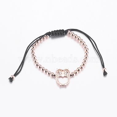Adjustable Brass Braided Beaded Bracelets(BJEW-F282-01-RS)-3