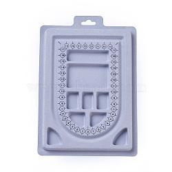Plastic Bead Design Boards, Rectangle, LightGrey, 23x15.6x1.3cm(ODIS-L003-05)