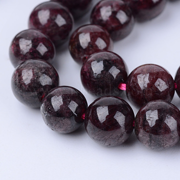 Natural Garnet Beads Strands, Round, 4~4.5mm, Hole: 0.8mm; about 96pcs/strand, 15.5 inches(X-G-Q462-4mm-23)