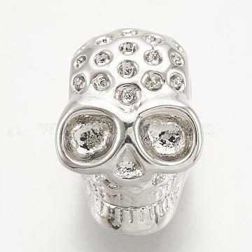 Platinum Skull Brass Beads