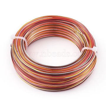 5 Segment colors Aluminum Craft Wire, for Beading Jewelry Craft Making, Colorful, 18 Gauge, 1mm, about 767.71 Feet(234m)/bundle(AW-E002-1mm-A-18)