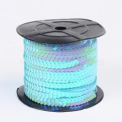 bleu clair avec paillette / rouleau de paillettes, 6 mm de diamètre, 100 yards / pain(BS17Y)