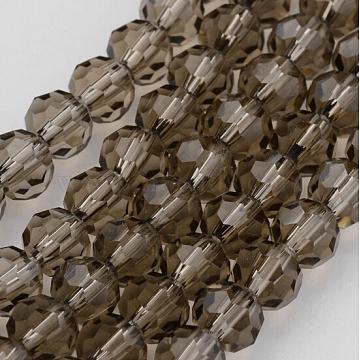 10mm Gray Round Glass Beads