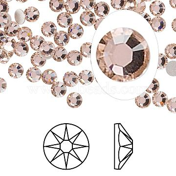 Austrian Crystal Rhinestone Cabochons, Crystal Passions, Foil Back, Xirius Rose, 2088, 319_Vintage Rose, 7.069~7.272mm(2088-SS34-319(F))