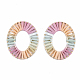 Handmade Raffia Woven Linging Rings(WOVE-S120-01E)-1