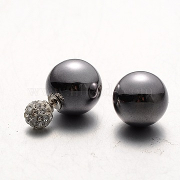 Gray Plastic Stud Earrings