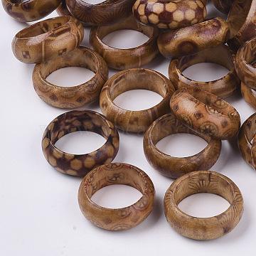 Wood Thumb Rings, BurlyWood, Size 8, 18mm(RJEW-N028-03-M)