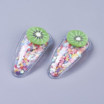 Platinum Colorful Plastic Snap Hair Clips