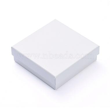 FloralWhite Square Paper Jewelry Set Box