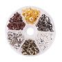 Mixed Color Brass Clip-on Earring Findings(KK-PH0035-24)