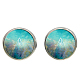 Picture Glass Stud Earrings(EJEW-O088-51)-1