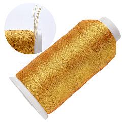Braid Nylon Metallic Cord, 6-Ply, Gold, 0.4mm, about 699.91 yards(640m)/roll(MCOR-T002-01B-01)
