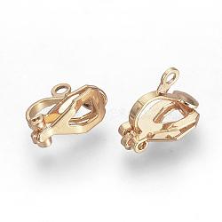 Bagues d'oreilles unies en fer, or rose, 12x6x10mm, Trou: 1.5mm(X-KK-R071-06RG)