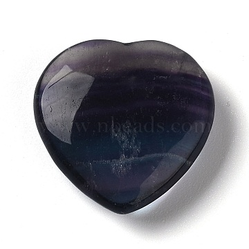 Natural Fluorite Beads, for Wire Wrapped Pendant Making,  No Hole/Undrilled, Heart, 30.5x30x10mm(G-Z001-04)