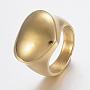304 нержавеющей стали кольца перста широкополосного, сердце, золотой, Размер 7, 17 mm