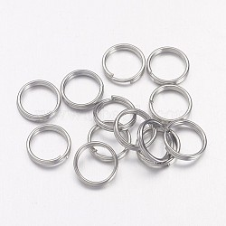 Iron Split Rings, Platinum, 7x1.4mm; about 6.3mm inner diameter; about 600pcs/50g(X-JRD7mm)