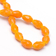 Solid Color Glass Faceted Teardrop Beads Strands(X-GLAA-Q052-B04)-3