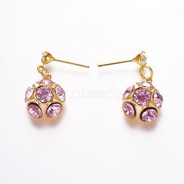 Pink Cubic Zirconia Stud Earrings