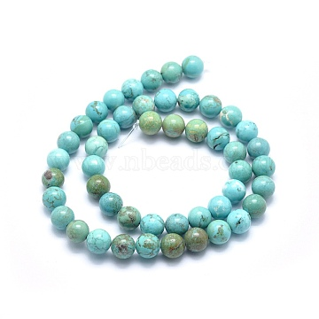 10mm Round Natural Turquoise Beads