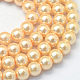 Baking Painted Pearlized Glass Pearl Round Bead Strands(X-HY-Q003-6mm-61)-1