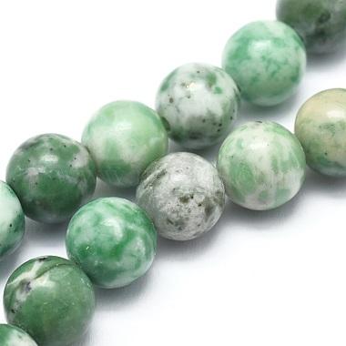 8mm Round Qinghai Jade Beads