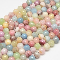 "Pierre naturelle perles rondes morganite brins, 6mm, trou: 1mm; environ 65 pcs/chapelet, 15.4""(G-O017-6mm-02B)"