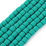 Dark Cyan Column Polymer Clay Beads(CLAY-ZX006-01J)
