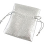 Silver Rectangle Organza Bags(X-OP008Y)
