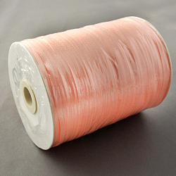 "Ruban de satin à face unique, Ruban de polyester, lightsalmon, 1/8"" (3mm) de large; à propos de 880yards / roll (804.672m / roll)(RC3mmY007)"