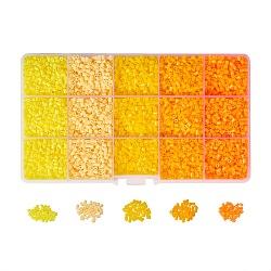 Diy perles à repasser en tube kits, avec des pincettes perlage plastique, carrés pegboards abc en plastique et papier à repasser, couleur mixte, 3x2.5 mm; environ 7 g / compartiment(DIY-PH0005-04)