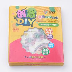 Artisanat à l'argile polymère diy, colorées, 177x145x20mm(CLAY-T005-18)