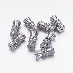 Brass Screw Clasps, Perfect Ending for Your Jewelry, Platinum Color, 12x5mm, Hole: 0.5mm(X-KK88)