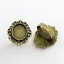 Antique Bronze Iron Ring Components(X-PALLOY-Q300-09AB-NR)