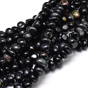 9mm Black Nuggets Tiger Eye Beads