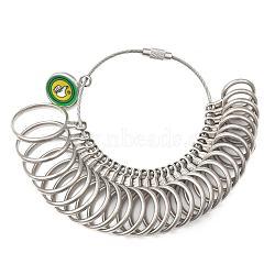Alloy American Calibration Ring Sizers Professional Model, Platinum, 11~22mm inner diameter, 28pcs/set(TOOL-N005-01A)