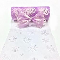 Tissu de flocon de neige, Tissu à carreaux en tulle pour la fabrication de jupe, violette, 6'' (15 cm); environ 10 mètres / rouleau (9.144 m / rouleau)(OCOR-P010-G09)