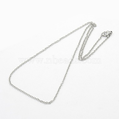 Unisex 304 Stainless Steel Cable Chain Necklaces(X-STAS-O037-83P)-2