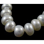 14 inches Grade B Natural Cultured Freshwater Pearl Beads Strands, Polished, Rondelle, Dyed, White, Beads: 5-6mm in diameter, 5.5mm thick, hole: 0.5mm. About 80pcs/strand