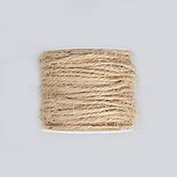 Corde de chanvre, chaîne de chanvre, ficelle de chanvre, pour la fabrication de bijoux, tan, 2 mm; 50 m / rouleau(OCOR-WH0002-A-08)